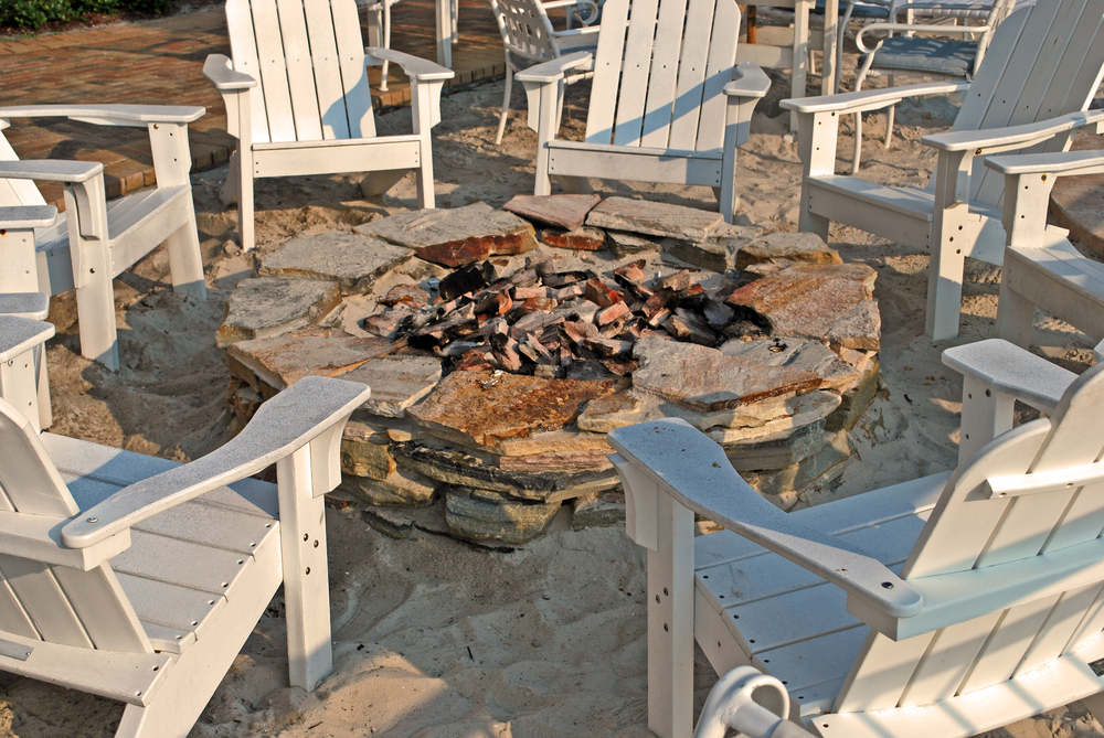Firepit in Backyard